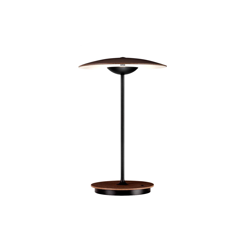Ginger bordlampe mørk eg ledningsfri fra lampefeber fra luxlight.dk