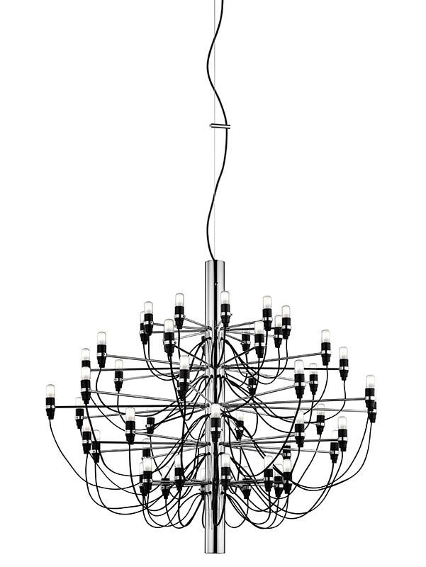 flos – 2097 / 50 lysekrone krom led - flos på luxlight.dk