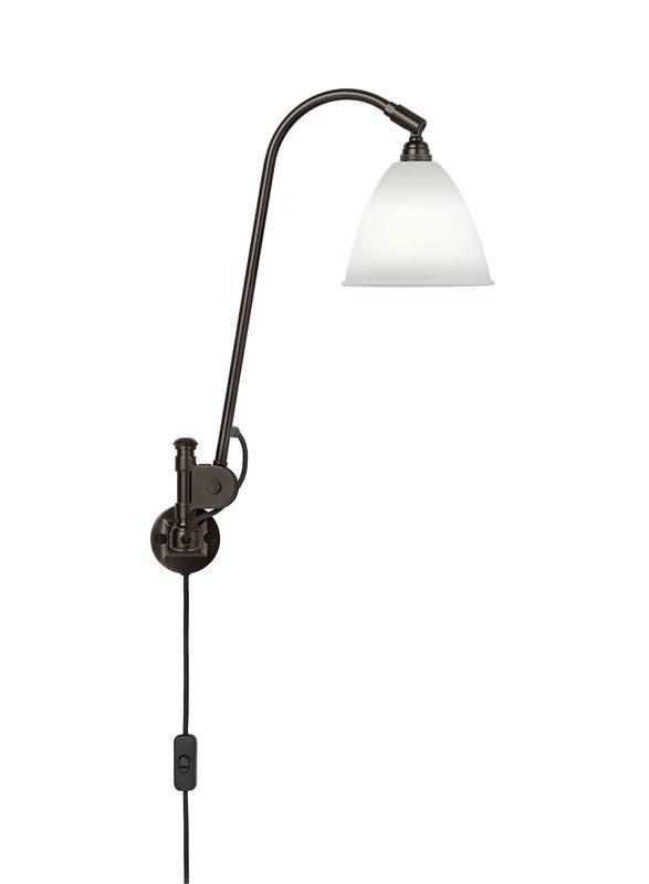 bestlite Bl6 væglampe chine bone/sort messing - bestlite fra luxlight.dk