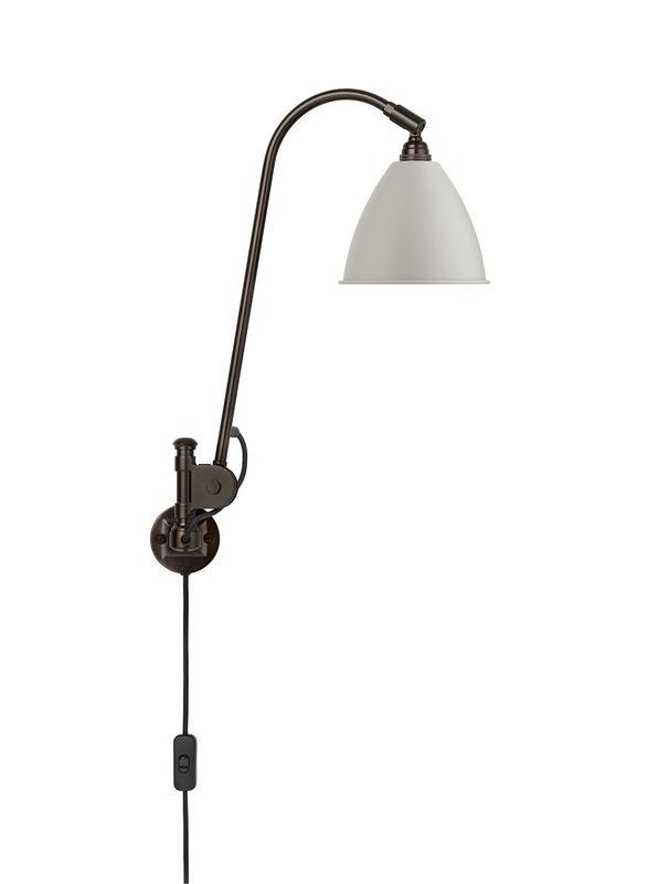 Billede af BL6 Væglampe Mat Hvid/Sort Messing - Bestlite