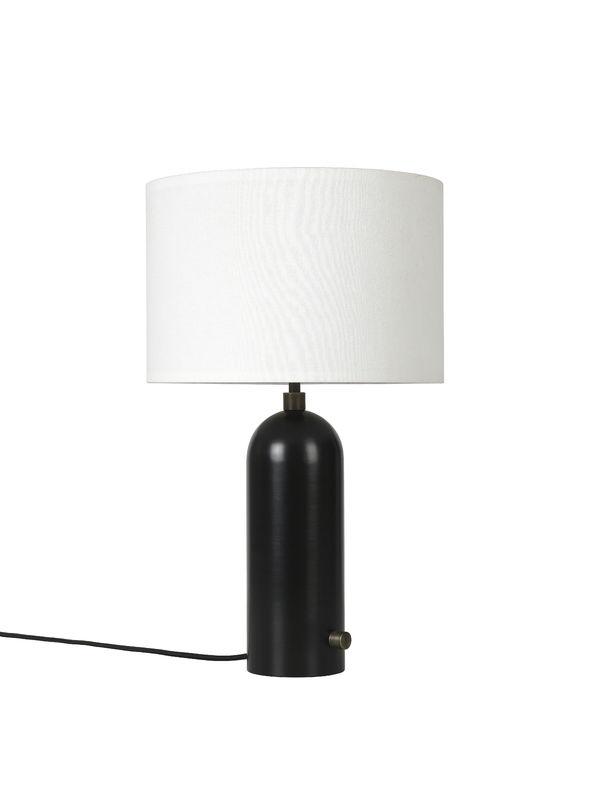 Billede af Gubi Gravity Bordlampe S Sortlakeret stål m. Hvid Skærm