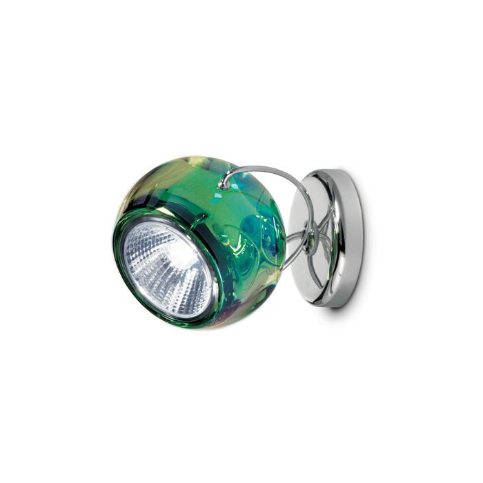 fabbian Beluga væg/loft grøn m/kabeludgang - fabbian på luxlight.dk