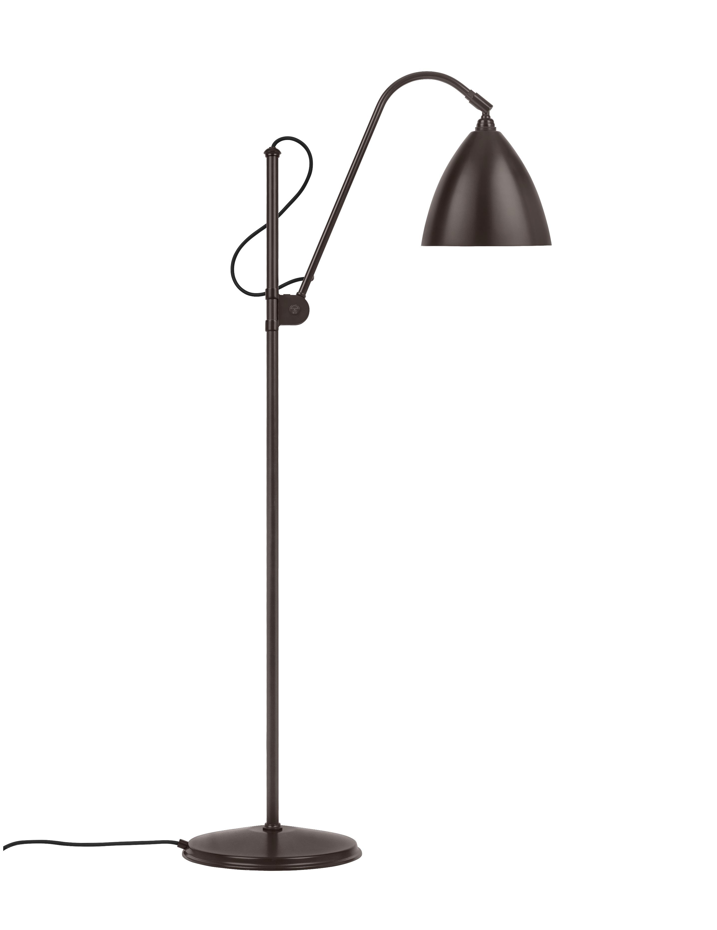 bestlite Bl3 m gulvlampe sort/sort messing - bestlite på luxlight.dk