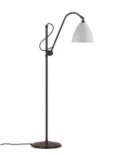 bestlite Bl3 m gulvlampe mat hvid/ sort messing - bestlite på luxlight.dk