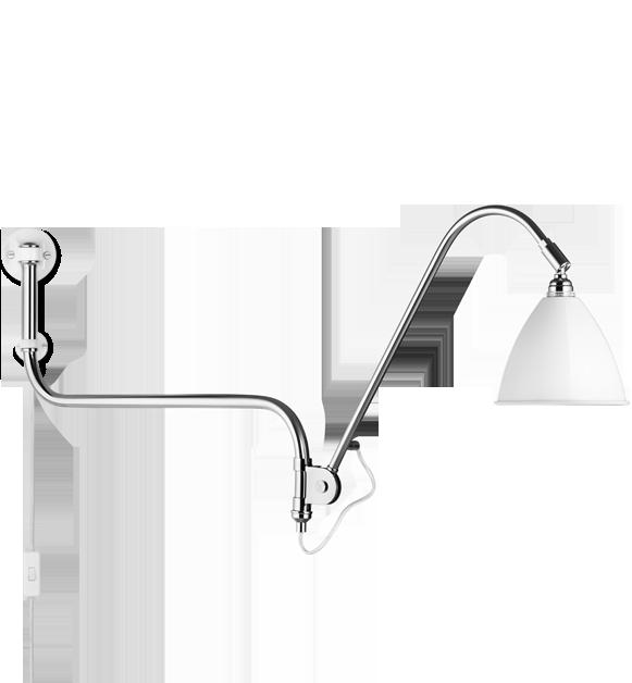 Billede af BL10 Væglampe Mat Hvid/Krom - Bestlite