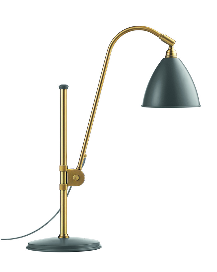 Billede af BL1 Bordlampe Grå/Messing - Bestlite