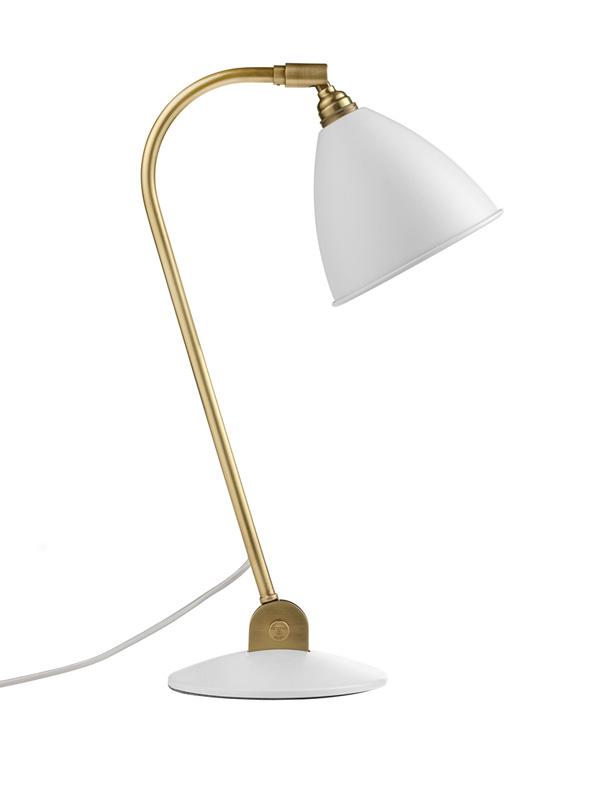 Billede af BL2 Bordlampe Mat Hvid/Messing - Bestlite