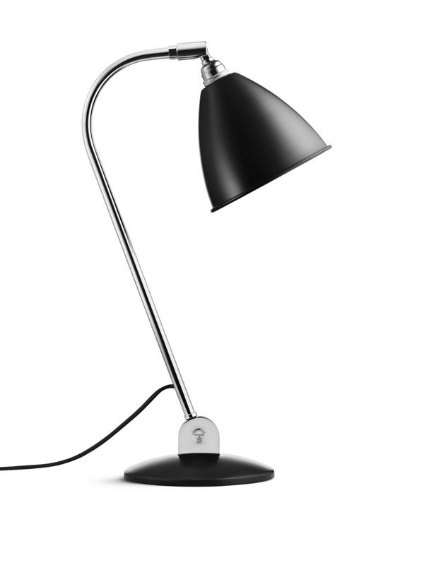 Billede af BL2 Bordlampe Mat Sort/Krom - Bestlite