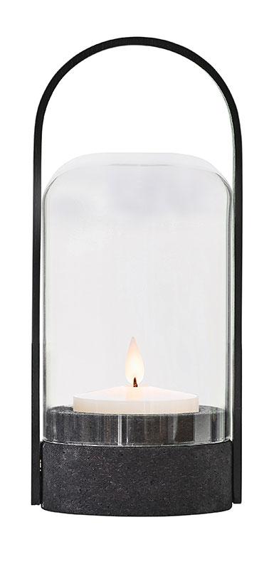Candlelight Sort Kork transportabel lampe - Le Klint