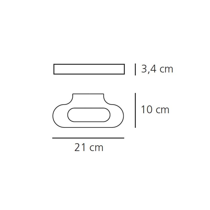 TaloVglampeLED21cmBlankKrom3000KArtemide-00
