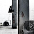 CaravaggioPendelBlankSortRdLedningP1165mm-00