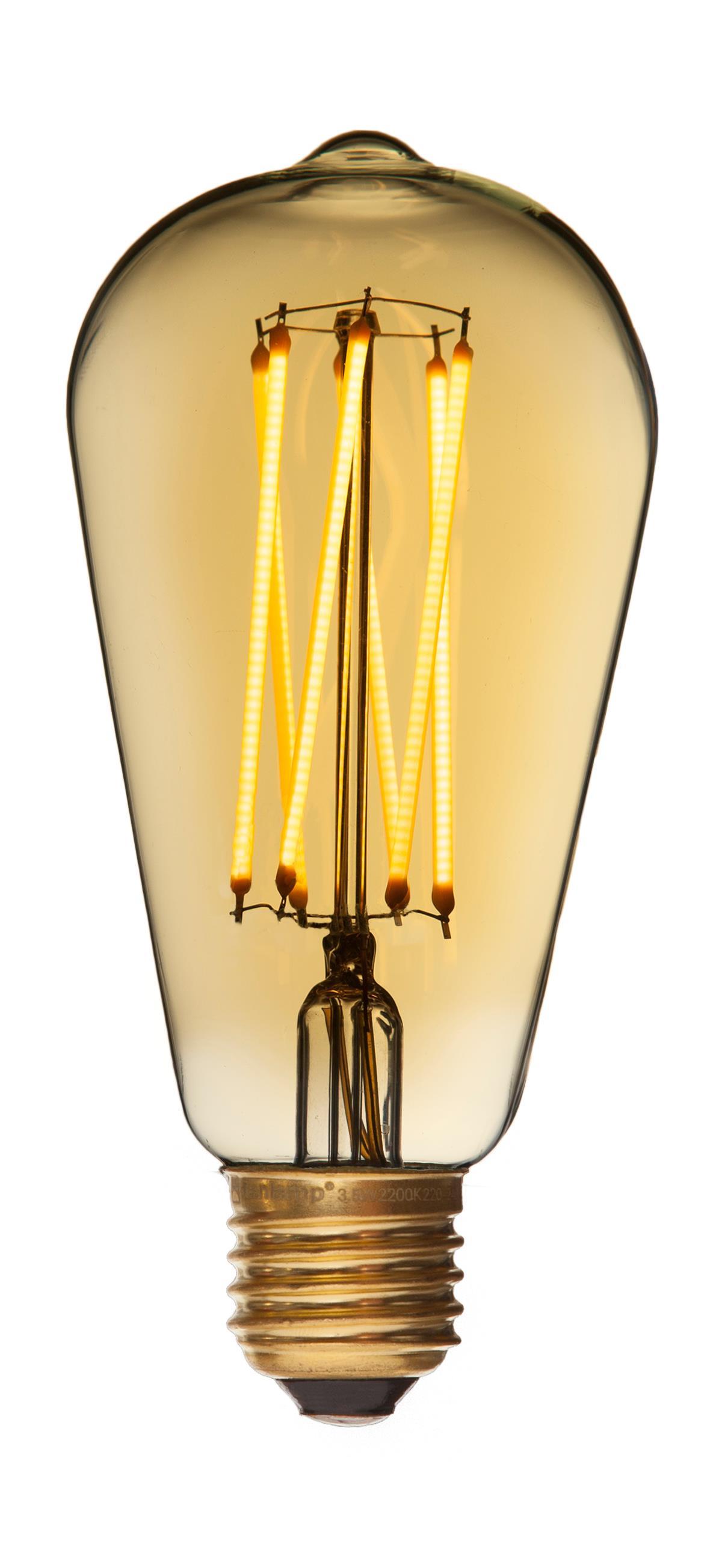 E27 - 2,5w led edison gold fra danlamp på luxlight.dk
