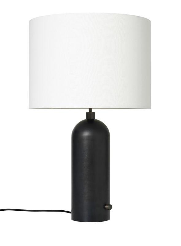 Billede af Gubi Gravity Bordlampe L Sortlakeret stål m. Hvid Skærm