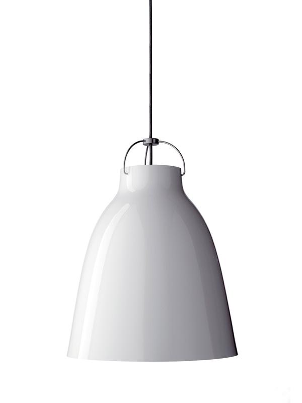 fritz hansen caravaggio pendel blank hvid - alle størrelser-p3 ø400mm