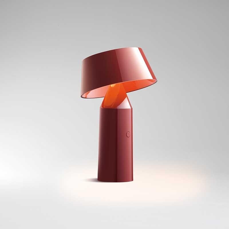 lampefeber – Bicoca bordlampe rød - lampefeber på luxlight.dk