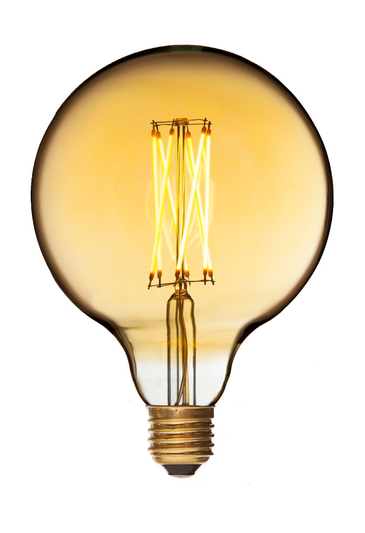 danlamp E27 - 2,5w led mega edison gold fra luxlight.dk