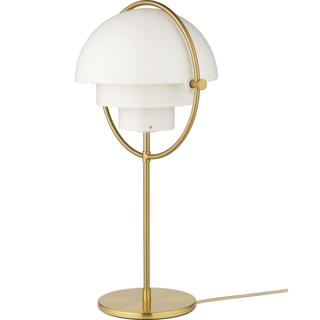 Billede af Multi-Lite Bordlampe Messing/Hvid - GUBI