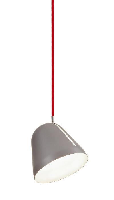 lampefeber Tilt s grå med rød ledning på luxlight.dk