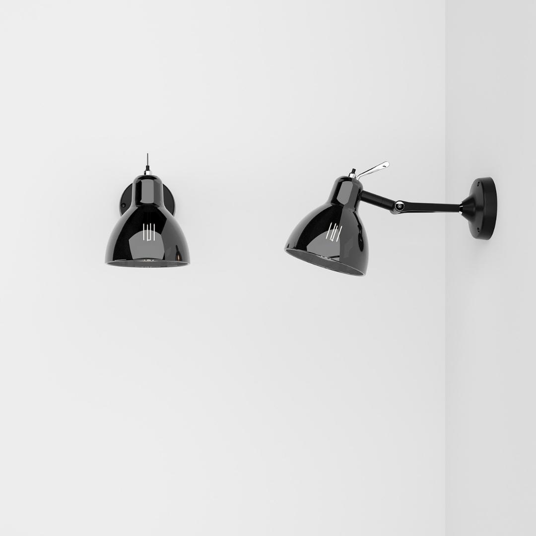 Køb Luxy Glam H0 Væg / Loftlampe Smokey Sort – Rotaliana