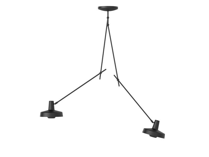 Køb Arigato Loftlampe Dobbelt Lang Sort – Grupa Products