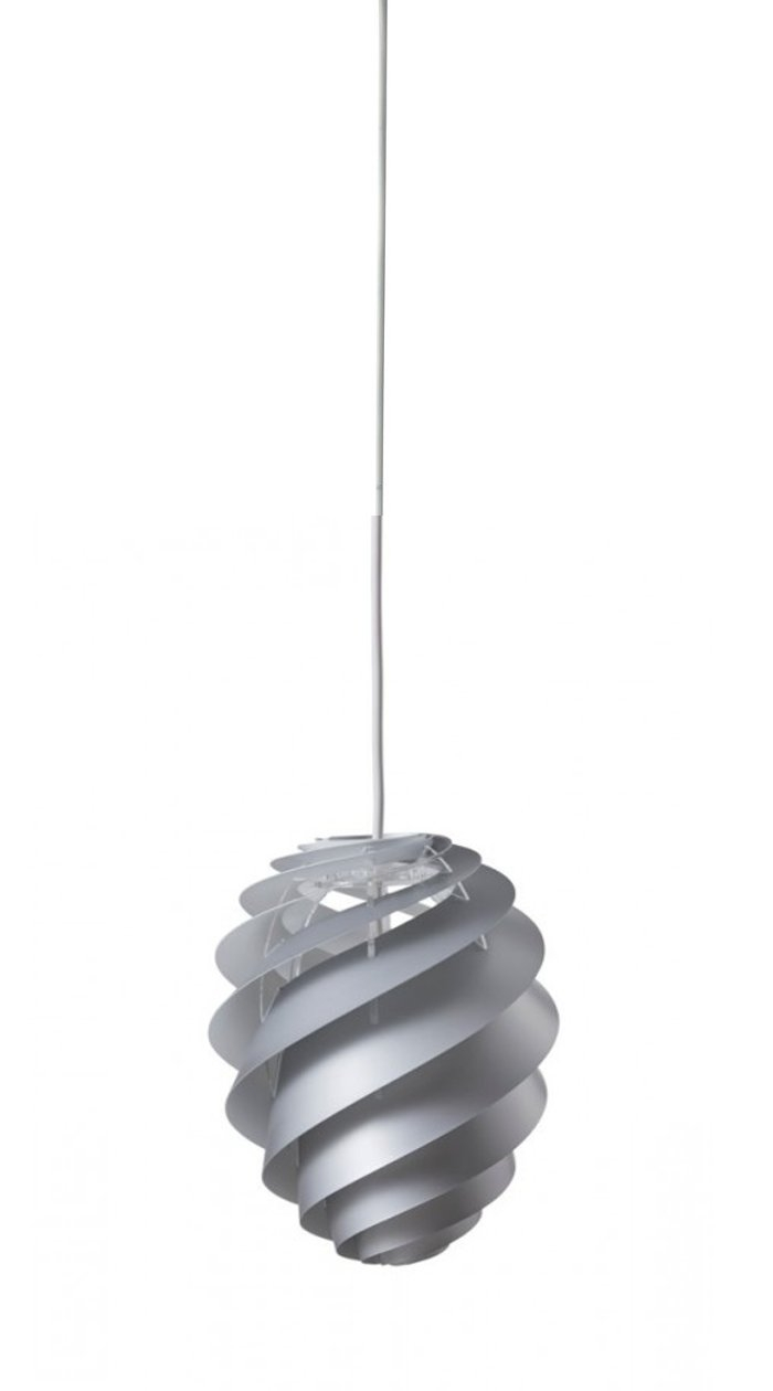 Swirl 2 Small Silver pendel - Le Klint