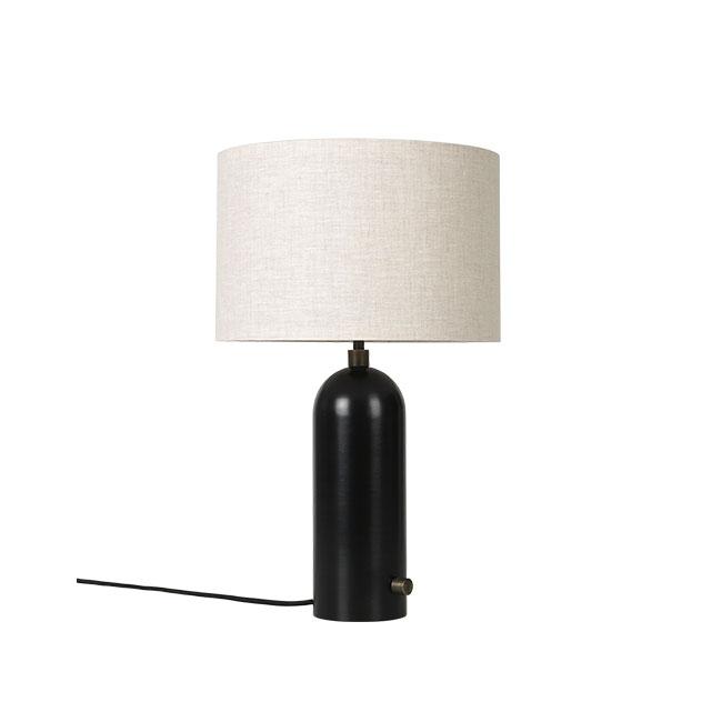 Billede af Gubi Gravity Bordlampe S Sortlakeret stål m. Canvas Skærm