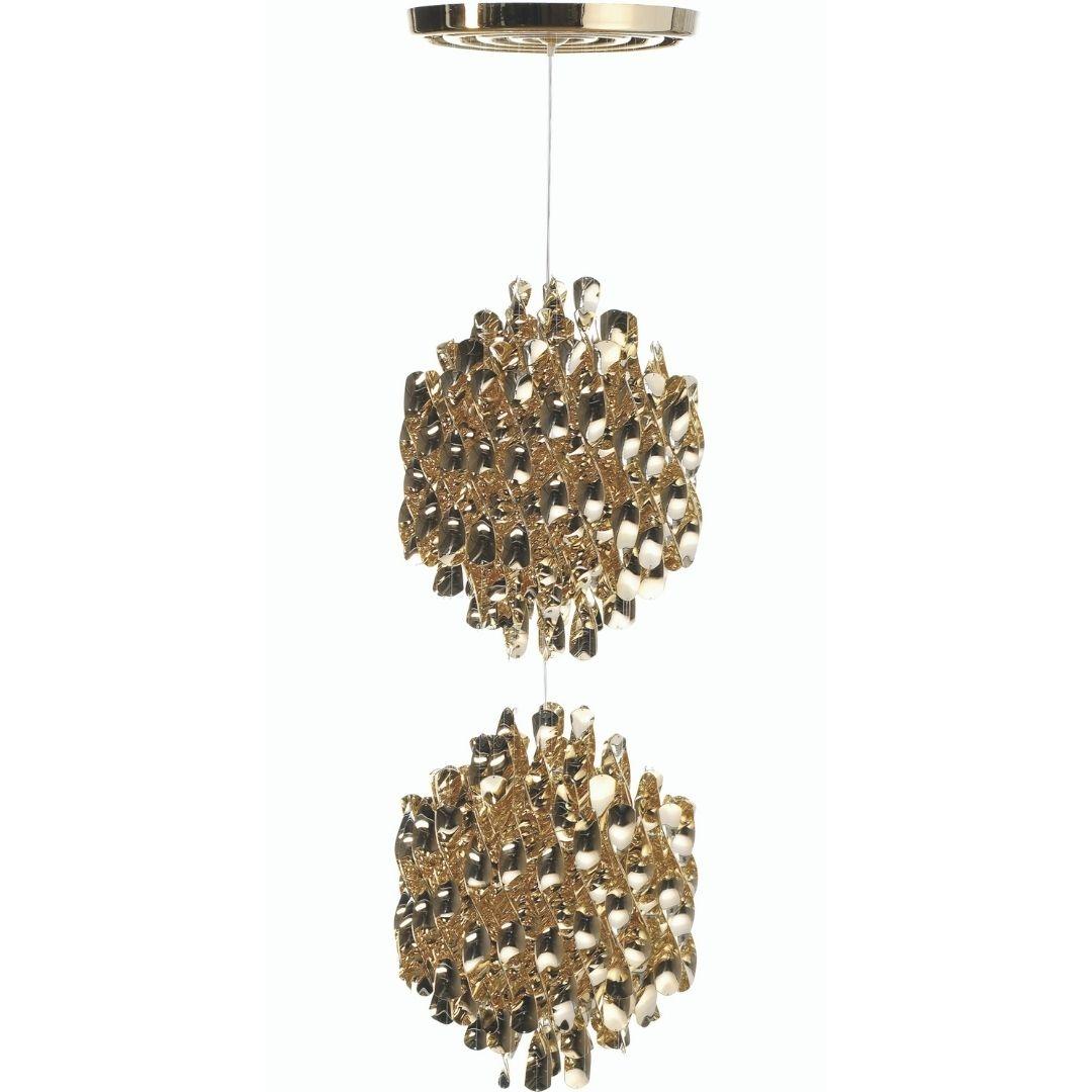 Køb Spiral Pendel SP2 Guld m/loftplade – Verpan