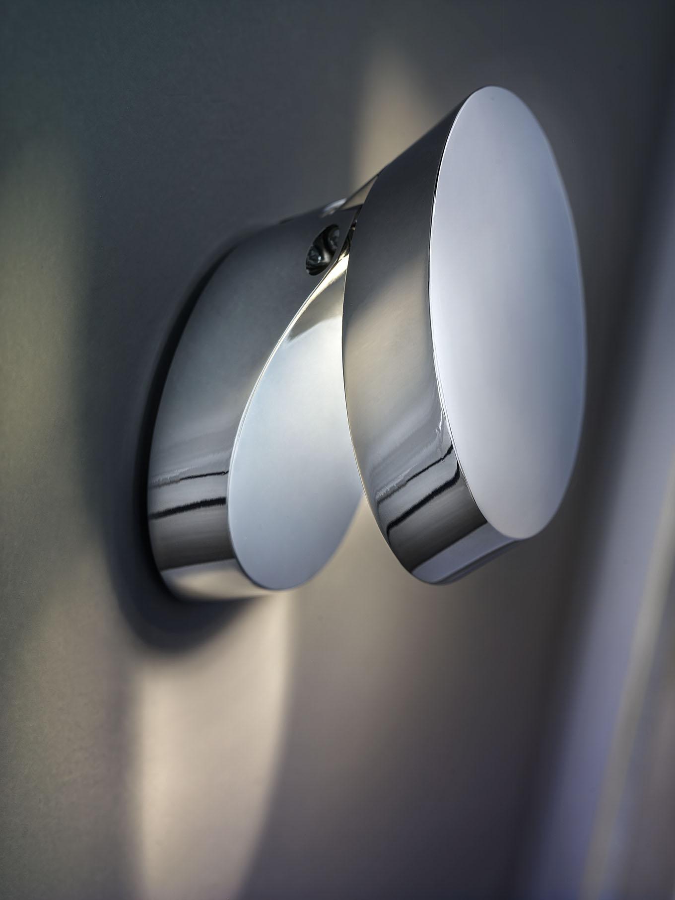 Pin-up væg/loft lampe krom fra lampefeber fra luxlight.dk