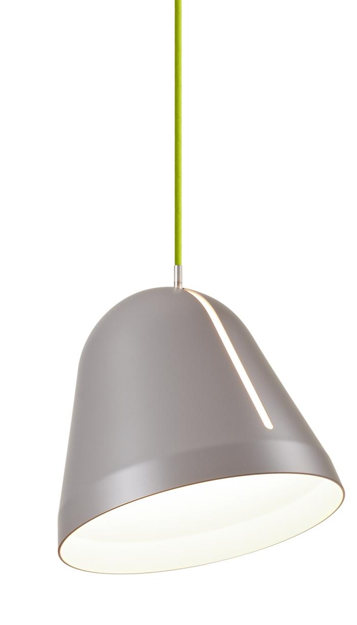 lampefeber Tilt pendel small grå med grøn ledning udstillingsmodel før 2349,- fra luxlight.dk