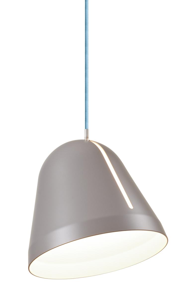 lampefeber – Tilt pendel small grå med lyseblå ledning udstillingsmodel før 2349,- fra luxlight.dk