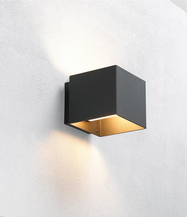 Welcome sort væglampe - embacco fra embacco på luxlight.dk