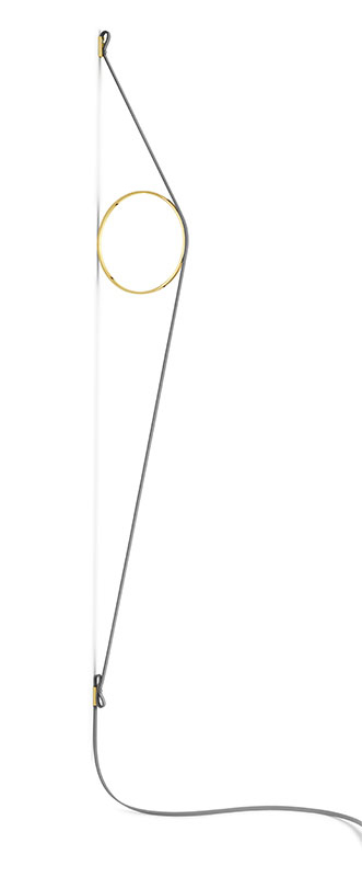 flos Wirering grå væglampe guld cirkel 2700k - flos fra luxlight.dk