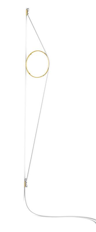 flos Wirering hvid væglampe guld cirkel 2700k - flos på luxlight.dk