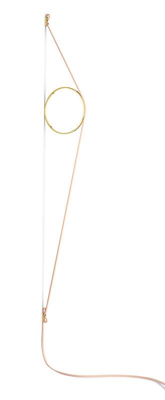 flos Wirering pink væglampe guld cirkel 2700k - flos fra luxlight.dk