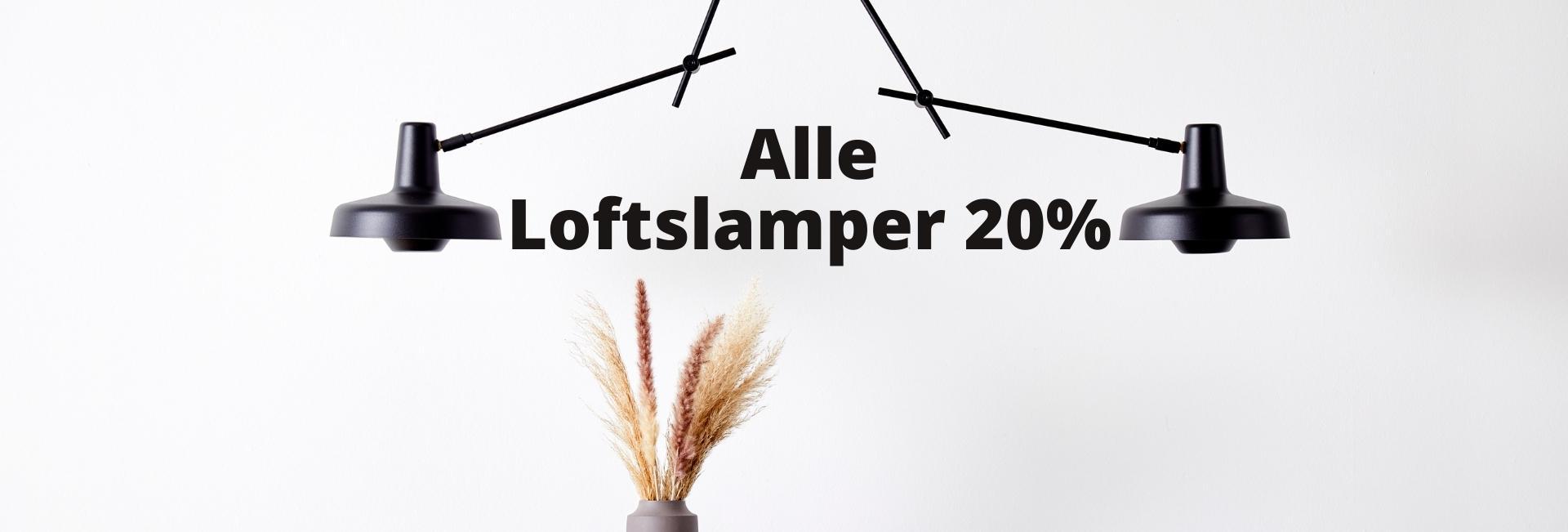 Loftlamper 20%