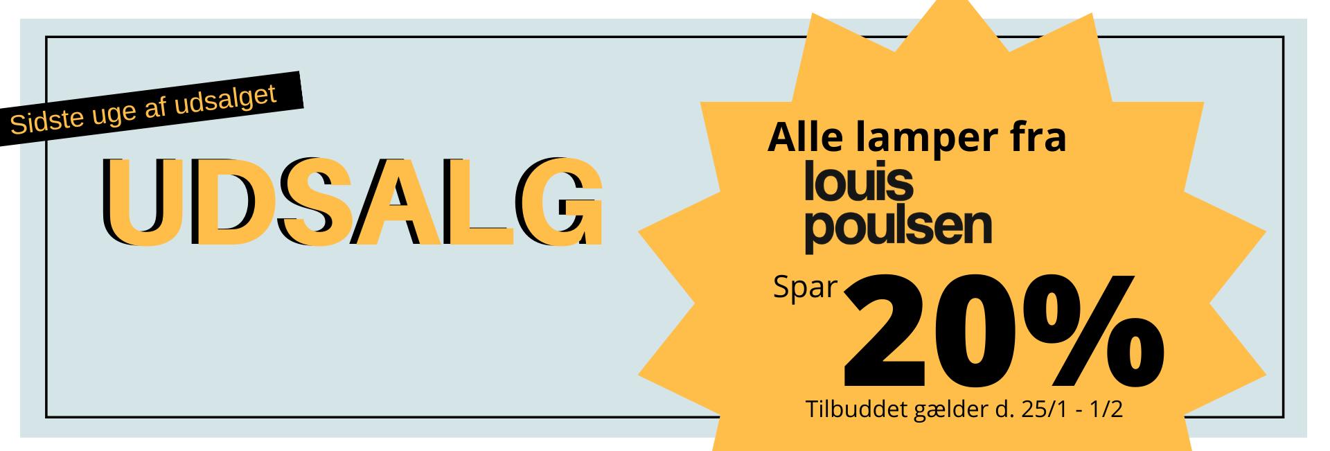 Januarudsalg - Louis Poulsen