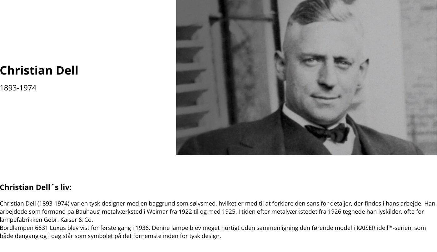 Designeren bag Kaiser Idell